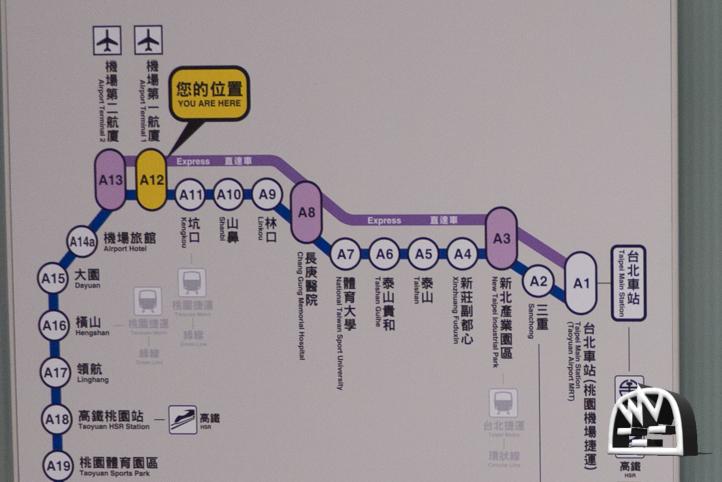 桃園空港路線図